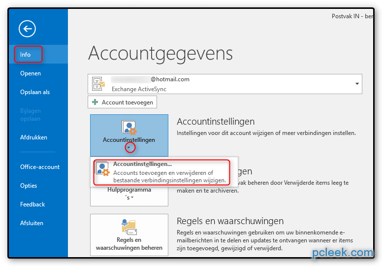 Account Standaard Ms Outlook