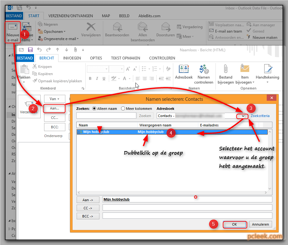 Groepsmail Versturen Outlook