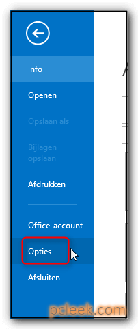Opties Outlook Openen