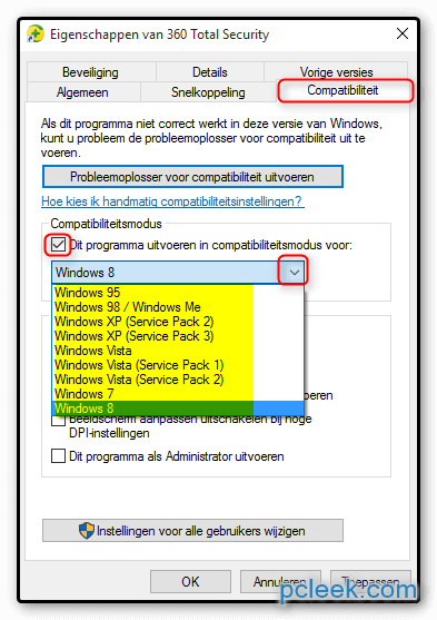 Compatibiliteit Software