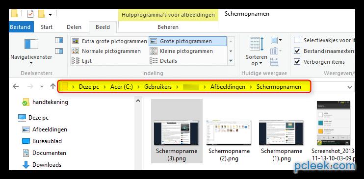 pcleek hoe schermafdrukken maken met windows 10. Black Bedroom Furniture Sets. Home Design Ideas