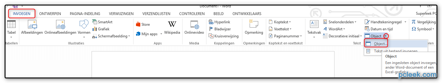 Excel Document Koppelen Word