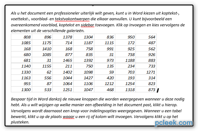 Excel Document Koppelen4 Word