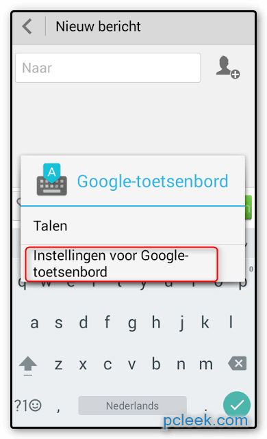 Toetsenbord Groter Android B