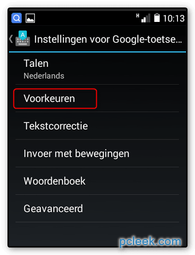 Toetsenbord Groter Android C