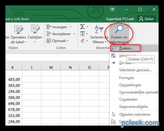 Citaten Zoeken Excel : Pcleek computertips info en nieuws voor de