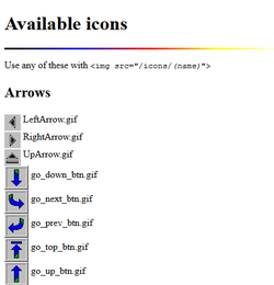 Available Icons